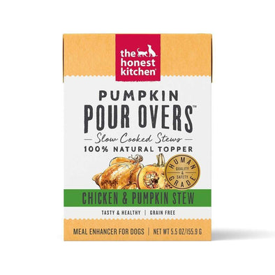 The Honest Kitchen Pour Overs Grain Free Chicken & Pumpkin Stew Recipe Single Food Topper for Dogs