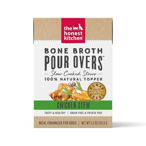 The Honest Kitchen Pour Overs Grain Free Chicken Stew Recipe Single Food Topper for Dogs