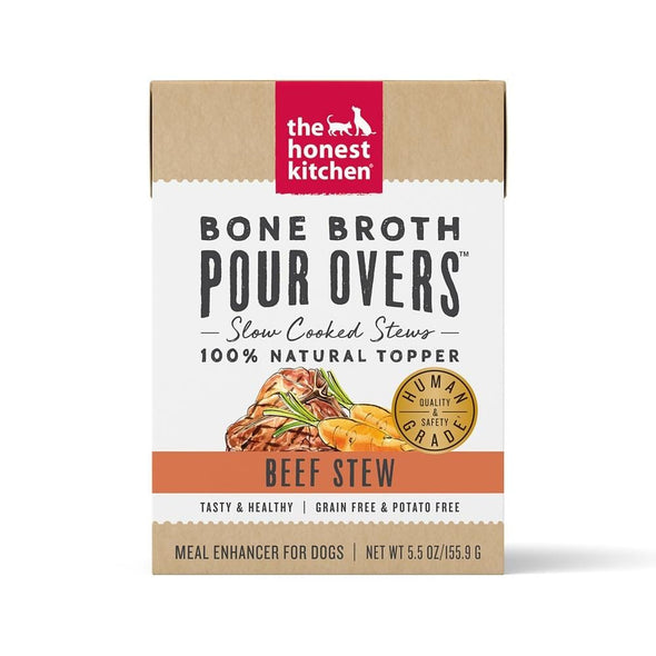 The Honest Kitchen Pour Overs Grain Free Beef Stew Recipe Food Topper for Dogs