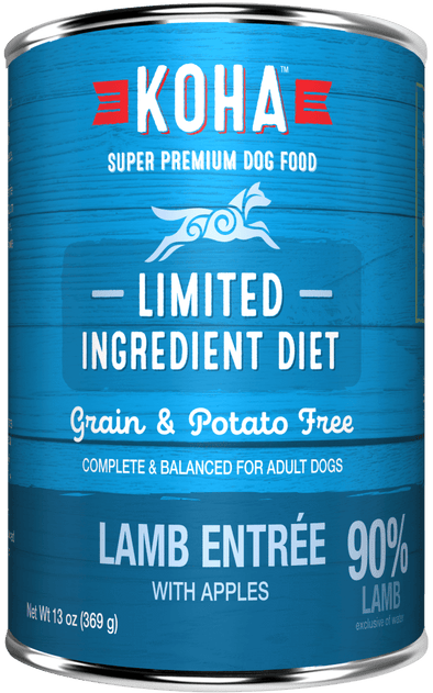 KOHA Grain & Potato Free Limited Ingredient Diet Lamb Entree with Apples Single Canned Dog Food