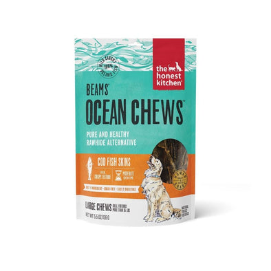 The Honest Kitchen BEAMS Grain Free Large Ocean Chews Cod Skin Dog Treats