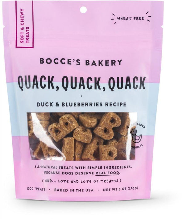 Bocce's Bakery Every Day Quack, Quack, Quack Soft & Chewy Dog Treats