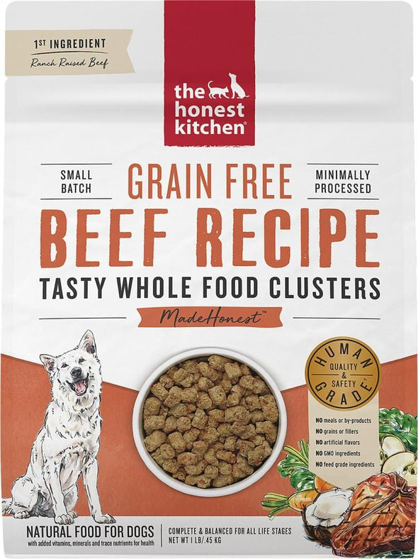 The Honest Kitchen Grain Free Beef Recipe Whole Food Clusters Dry Dog Food