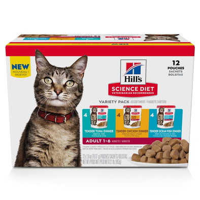 Hill's Science Diet Tender Dinner Variety Pack Adult Wet Cat Food