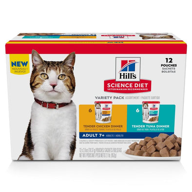 Hill's Science Diet Adult 7+ Tender Dinner Variety Pack Senior Wet Cat Food