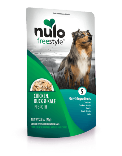 Nulo Freestyle Grain Free Chicken Duck & Kale in Broth Meaty Dog Food Topper Pouch