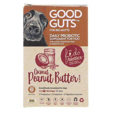Fidobiotics Good Guts for Big Mutts - Human Grade Probiotic Powder for Dogs