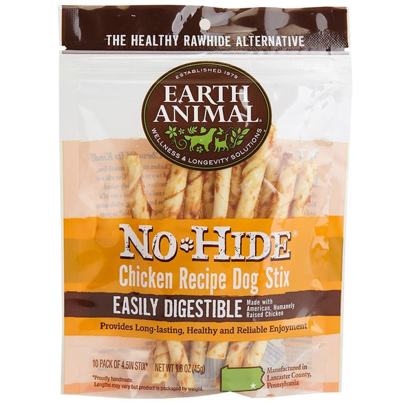 Earth Animal 10-Pack No-Hide Chicken Chew Stix Dog Treats