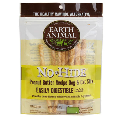 Earth Animal 10-Pack No-Hide Peanut Butter Chew Stix Dog and Cat Treats