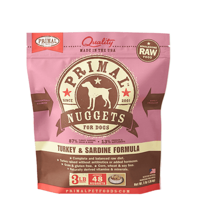 Primal Raw Frozen Turkey & Sardine Formula For Dogs