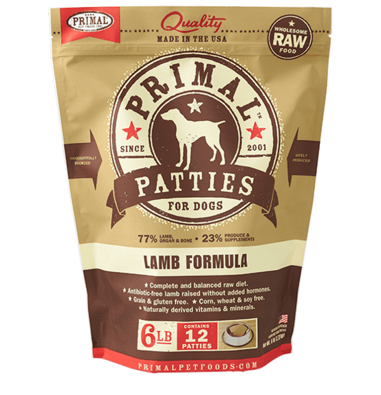 Primal Raw Frozen Lamb Formula For Dogs