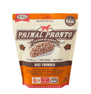 Primal Pronto Raw Frozen Beef Formula For Dogs