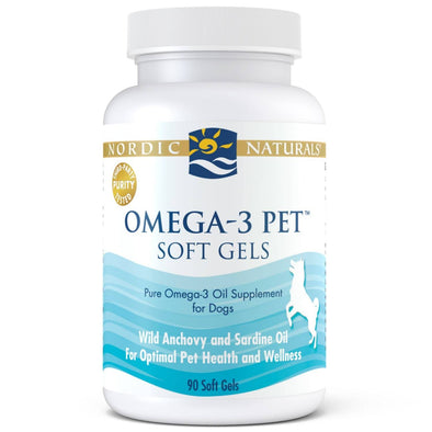 Nordic Naturals Omega 3 Pet Oil Soft Gels Supplement for Dogs and Cats