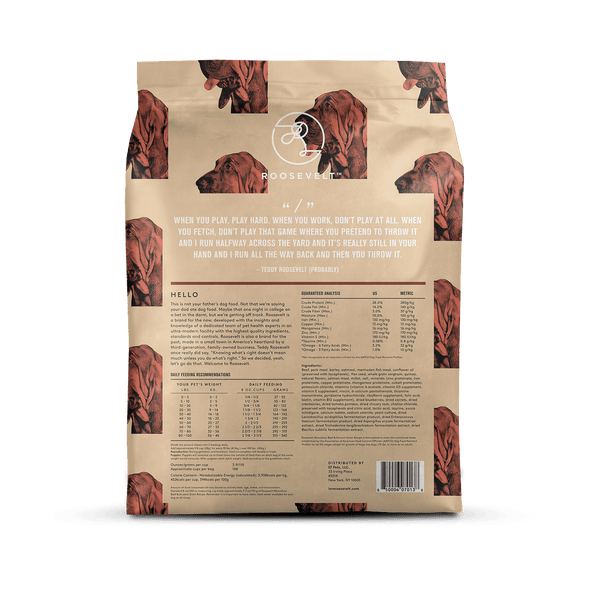 Roosevelt Moovelous Beef & Ancient Grain Recipe Dry Dog Food