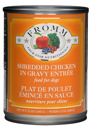 Fromm Four-Star Shredded Chicken in Gravy Entree for Dogs