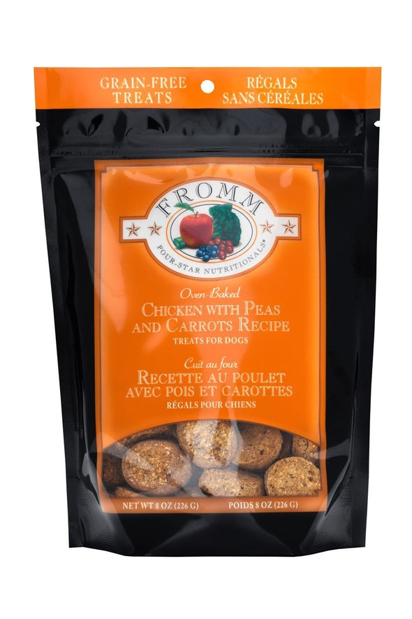 Fromm Four Star Oven Baked Chicken with Carrots and Peas Recipe Dog Treats