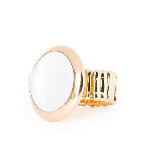 Savage Moon Ribbed Ring
