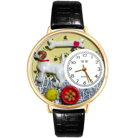 Jack Russel Terrier Watch in Gold (Large)