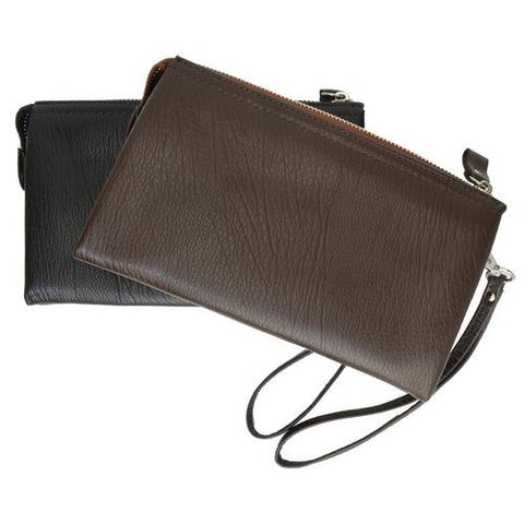 Genuine Leather Simple Women Wristlet