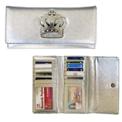 WOMEN'S SUPER SOFT LEATHER CROWN WALLET