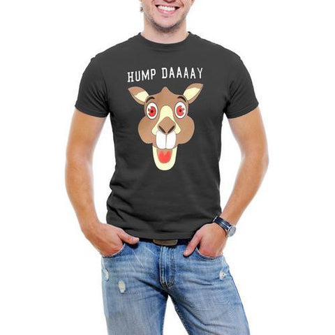 Hump Day! Camel Face Men T-Shirt Soft Cotton Short Sleeve Tee