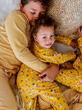 Children's Mustard Striped & Floral Sleepwear