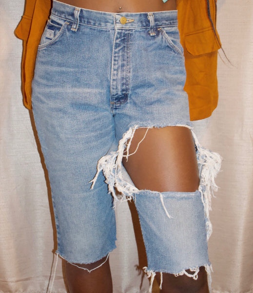Distressed Jean Culottes - Love Kysh