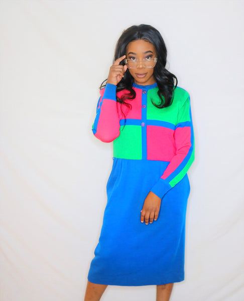 Nanny Color Block Dress - Love Kysh