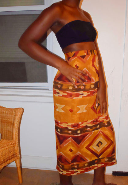 Patternz Wrap Skirt - Love Kysh