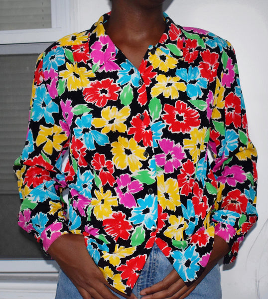 Flower Pwr Button Up - Love Kysh