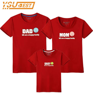 21f19901b Family T-shirt Dad Mom Baby Matching Outfits Clothes Baby Mother Father Son  Daughter Family Look Couple T Shirt Tops Costume