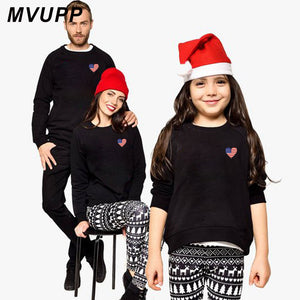 4ba6c58f LOVE Printed Mother dad daughter son sweatshirt christmas clothes Autumn  Winter family matching Outfit Look hoodies Fall t-shirt