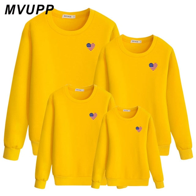 306a8890 Load image into Gallery viewer, LOVE Printed Mother dad daughter son  sweatshirt christmas clothes Autumn ...