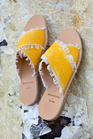 BRUSH - CROSS SANDALS - YELLOW
