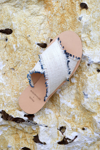 EYELASH - CROSS SANDALS - NAVY BLUE