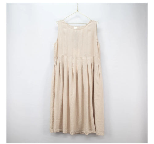 French style pleat dress