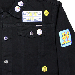 PATCH BADGE BLACK JACKET