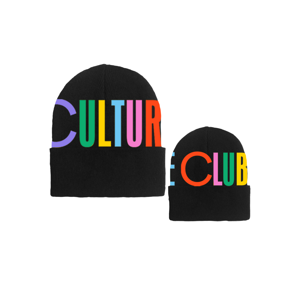 CULTURE CLUB RAINBOW BLACK BEANIE