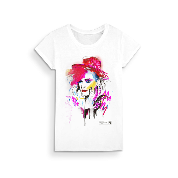 COLOURFUL BOY LADIES WHITE T-SHIRT