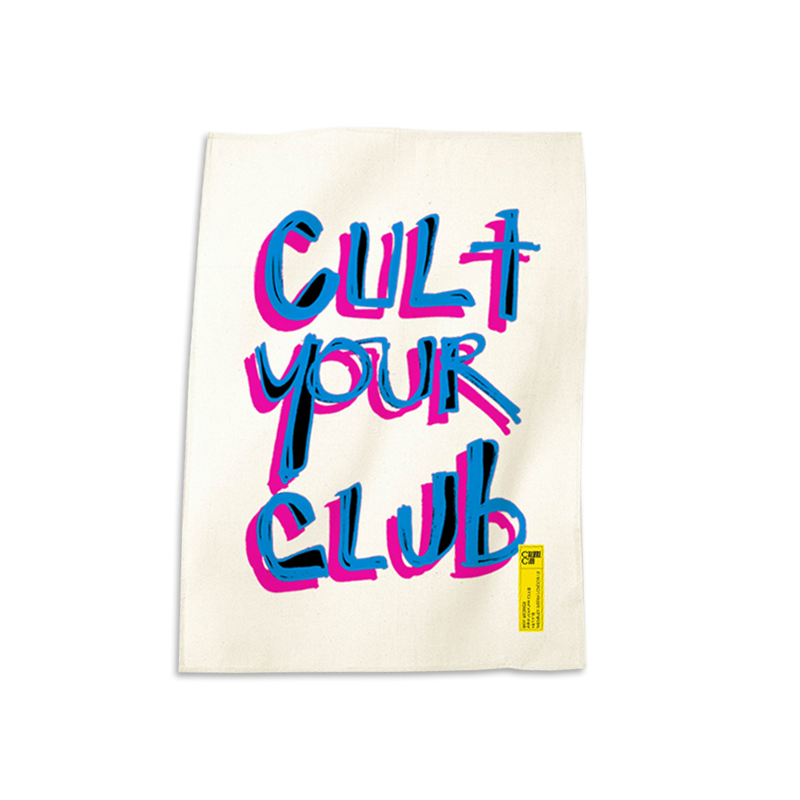 CULT YOUR CLUB WHITE TEA TOWEL