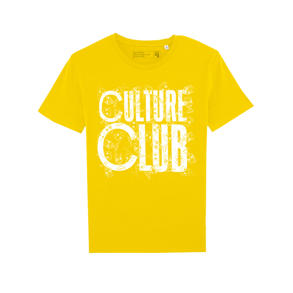 CULTURE CLUB LOGO YELLOW T-SHIRT