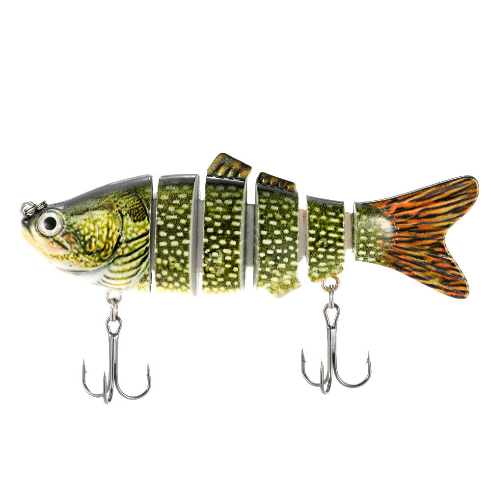 Fishing Lure With 6 Jointed Sections Hooks
