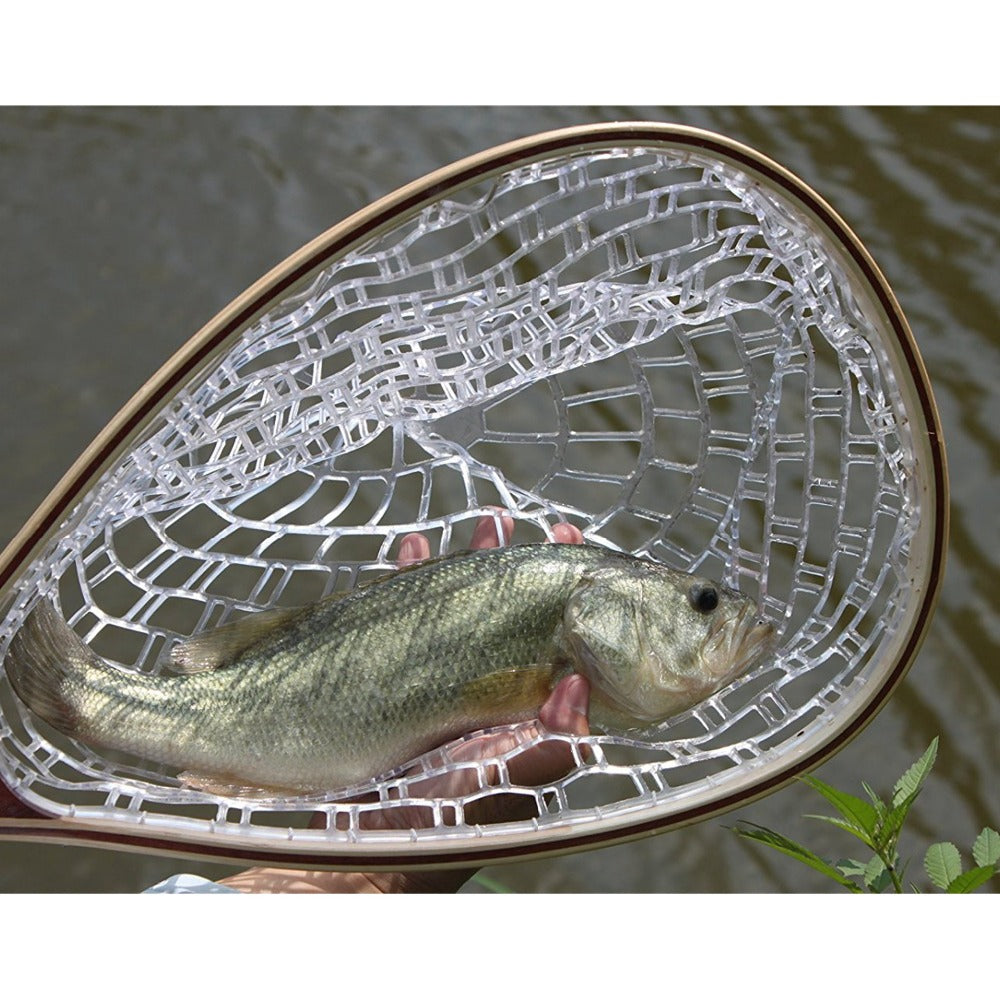 Fishing Net With Rubber Net And Wooden Frame