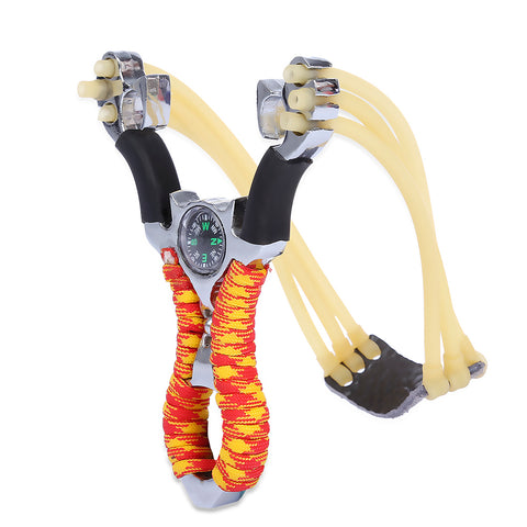 Powerful Aluminum Alloy Slingshot with Paracord Rapped Handle
