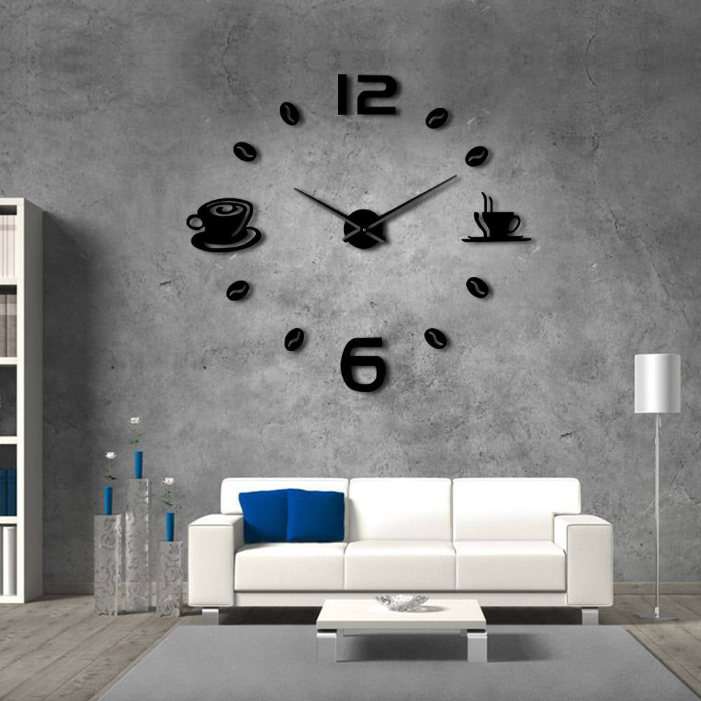 Cafe Coffee Time Design Frameless Large Wall