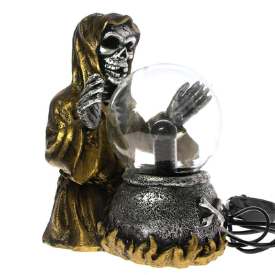 Destroyer Of Worlds Grim Reaper Sculpture Plasma Ball Lamp Electricity Ball