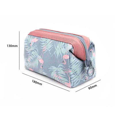 Waterproof Portable Makeup Bag Toiletry Bag, Flamingo