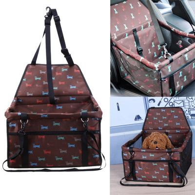 Pet Dog Booster Seat For Car Brown Color
