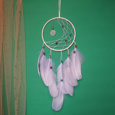 Dream Catcher Net Feather with LED Wind Bell