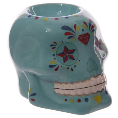 Floral Sugar Skull Oil Burner